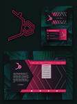 web, business card,