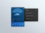 Settings card UI