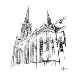 Crtež katedrale u N