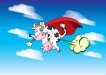 Super krava na gasni