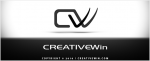 CreativeWin logo + p