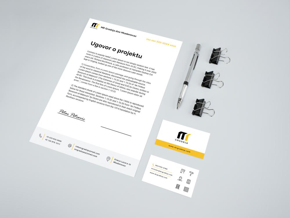 Logo & Visual identity for company MR Gradnja