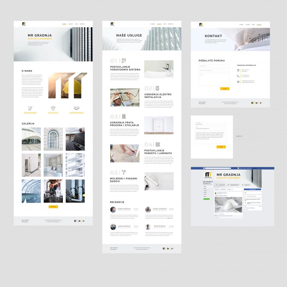 Wordpress Website for company MR Gradnja Geelancer