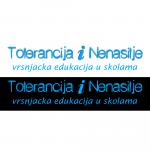 Logo, plakat i liflet - ''TOlerancija i NEnasilje - vršnjačka edukacija u školama''