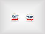 Vizuelno rešenje jubileja 25 godina Evropskog pokreta u Srbiji